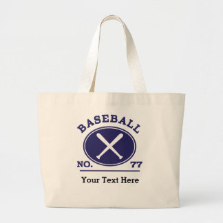Baseball Player Uniform Number 77 Gift Idea Tote Bags