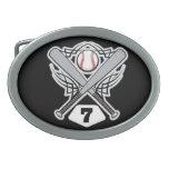 Baseball Player Uniform Number 7 Belt Buckles
