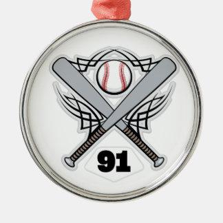 Baseball Player Uniform Number 91 Ornament