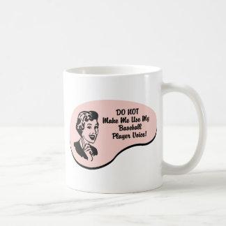 Baseball Player Voice Coffee Mugs