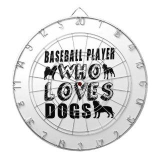 baseball player Who Loves Dogs Dart Boards