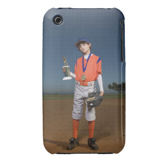 Baseball player with trophy and medal Case-Mate iPhone 3 case