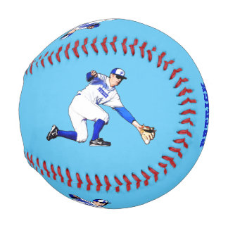 Baseball Player With Your Name Or Monogram Blue