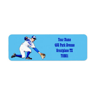 Baseball Player With Your Name Or Monogram Return Label