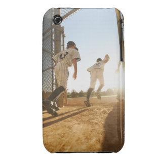 Baseball players (10-11) entering baseball Case-Mate iPhone 3 case