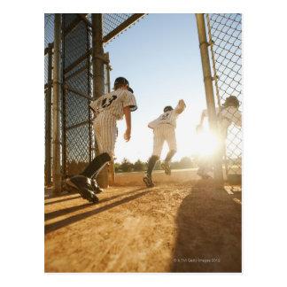 Baseball players (10-11) entering baseball postcard