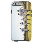 Baseball players (10-11) running on baseball tough iPhone 6 case