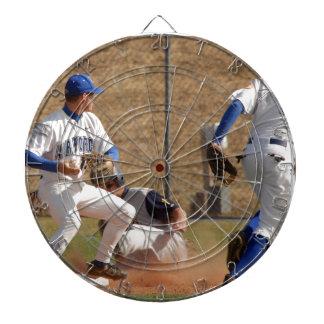 Baseball players on the field photo dartboard with darts
