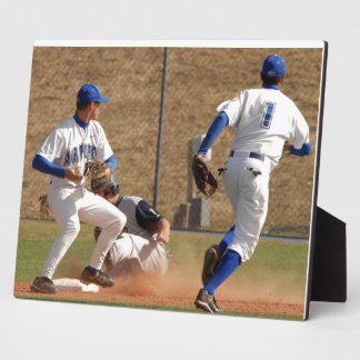 Baseball players on the field photo plaque