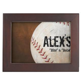 Baseball Player's Personalized Custom Keepsake Box