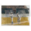 Baseball Players Practising Card - painting by Thomas Eakins