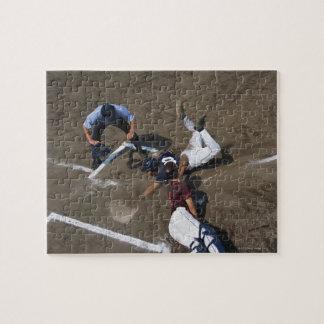 Baseball Players Sliding into Base Jigsaw Puzzle