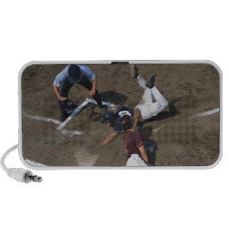 Baseball Players Sliding into Base iPod Speaker