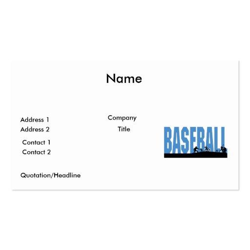 baseball players text design business card