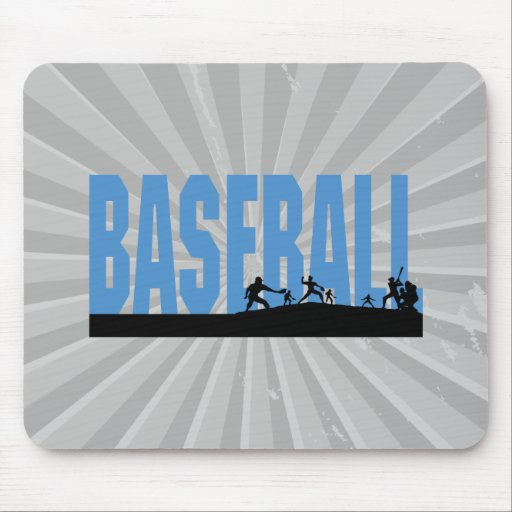 baseball players text design mouse pad