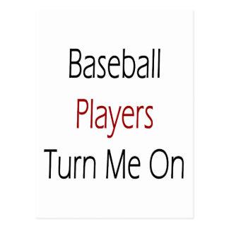 Baseball Players Turn Me On Postcard