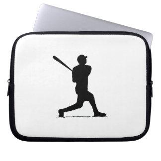Baseball playr laptop sleeve