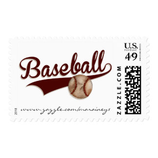 Baseball - Postage Stamp