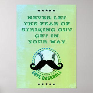 Baseball poster, Game Poster Art, Baseball Quote