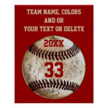 Baseball Posters, Team Colors, Team, Player's Name Poster