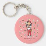 Baseball Princess Keychain