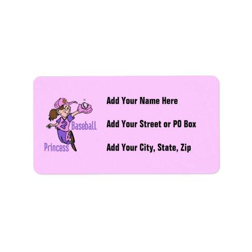 Baseball Princess T shirts and Gifts Label