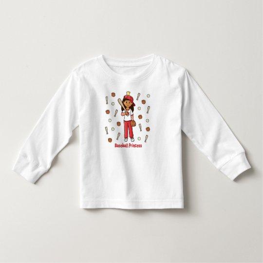 Baseball Princess Toddler T-shirt