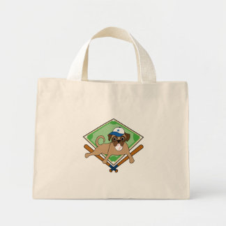 Baseball Puggy Tote Bag - blue hat - customize