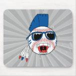baseball punk vector design graphic mousepads