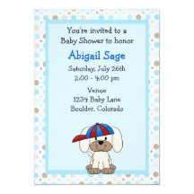 Puppy dog baby shower invitations announcements zazzle filmwisefo Image collections