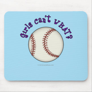 Baseball-Purple Mouse Pad