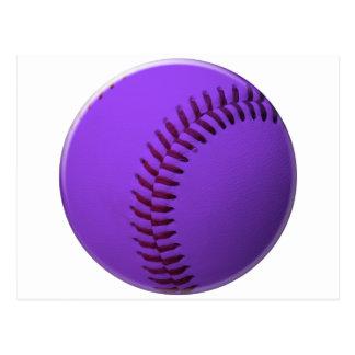 Baseball Purple Postcard
