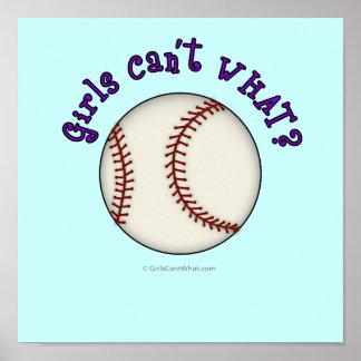 Baseball-Purple Poster