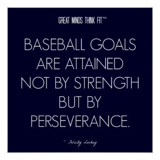 Baseball Quote 8: Perseverance for Success Poster