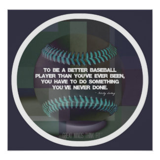 Baseball Quote Poster #07