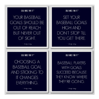 Baseball Quotes for Motivation: Goals Poster