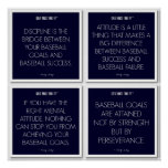 Baseball Quotes for Motivation: Success Poster
