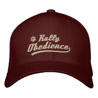 Baseball Rally Obedience Embroidered Hat