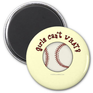 Baseball-Red 2 Inch Round Magnet
