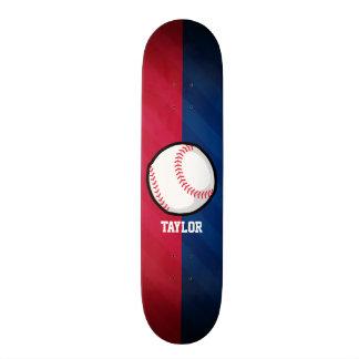Baseball; Red, White, and Blue Skateboard