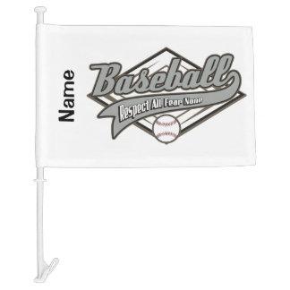 Baseball Respect Car Flag