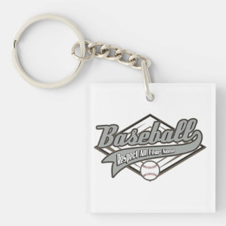 Baseball Respect Keychain