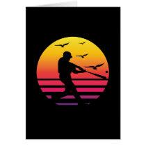 baseball retro sunset, #baseball