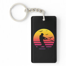 baseball retro sunset, #baseball keychain