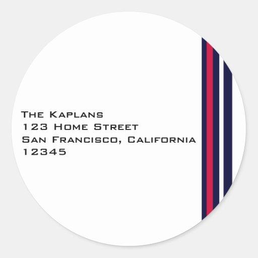 Baseball Return Address Envelope Seal Sticker