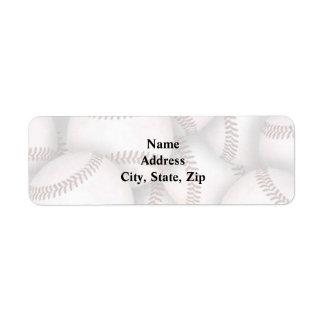Baseball Return Address Label