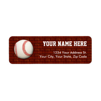 Baseball Return Address Labels