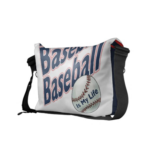 Baseball Rickshaw Messenger Bag