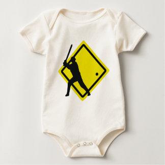 baseball roadsign baby bodysuit