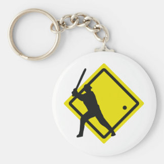 baseball roadsign keychain